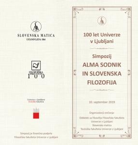 Simpozij Alma Sodnik in slovenska filozofija
